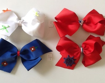 Play-Time Customized Large Grosgrain Bows