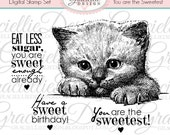 You are the Sweetest Digital Stamp Set