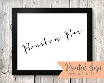 Bourbon Bar Wedding Sign, Bourbon Bar Wedding Signage, Bourbon & Cigar Wedding Signs (65-HW)