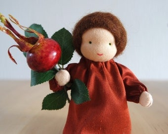 Rosehip - Flower child for the Nature Table of Fall, Waldorf inspired