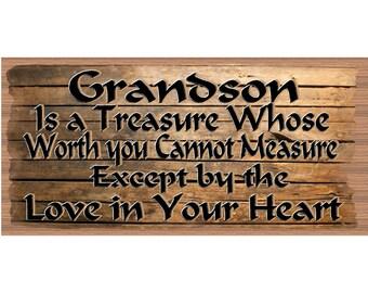 Grandson Wood Signs - Grandson Plaque - GS 2553