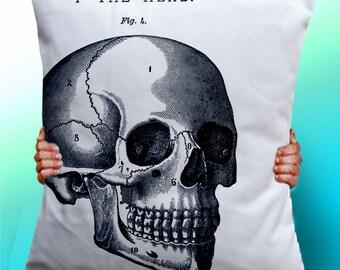 Skull - Cushion / Pillow Cover / Panel / Fabric