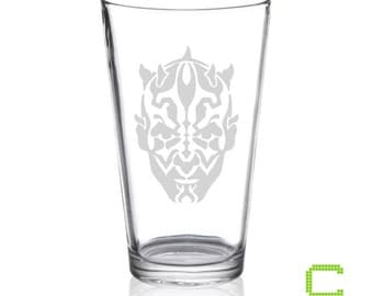 Star Wars - Darth Maul - Etched Pint Glass