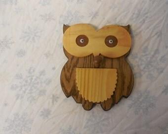 owl coat hook or towel holder