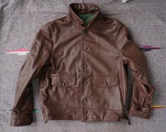 Monarch Goatskin Leather Jacket-Size 44