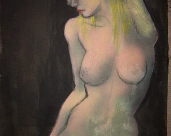 Genuine by The Artist Naked Woman Painting Limited Edition