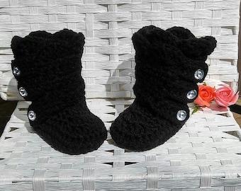 Crochet baby girl boots, baby girl shoes, newborn girl boots, baby winter boots, gift for baby, baby girl booties, christmas boots, booties