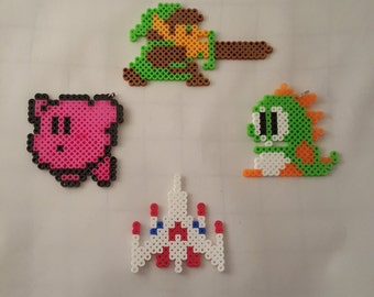 8 bit Kirby, Link, Galaga, and Bubble Bobble Sprites