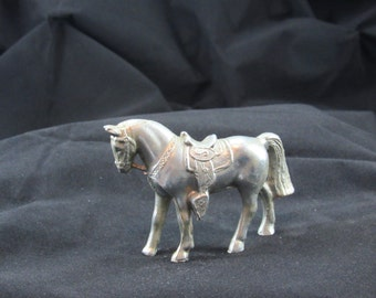 silver carnival horse vintage