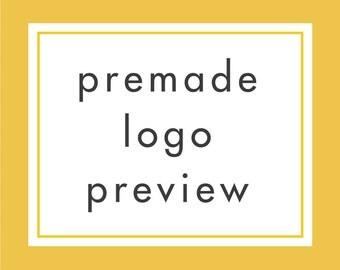 Preview Premade Logo Design, Try before you buy it, Logo Preview, Logo Add-on, Business Logo Design, Premade Logo, Watermark Logo Branding