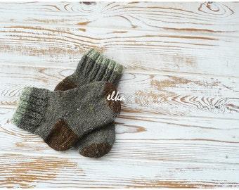 Knitted socks, baby - 4 / Вязаные носочки, детские - 4
