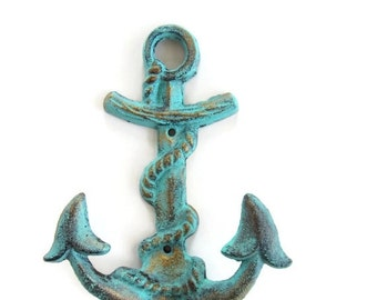 End of Summer Sale Anchor Hook- Shabby Chic Hook - Nautical Anchor Hook- Nautical Nursery Hook - Nautical Nursery Decor - Shabby Chic Wall H