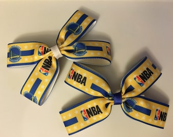 Golden State Warriors Double Hair Bow