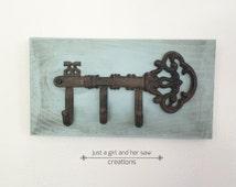 Skeleton key coat hook, wall hooks, decorative wall hook