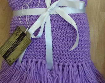 Lilac baby blanket knitted baby blanket lilac hand knitted baby blanket lilac baby knit handknitted cot blanket crib blanket new baby gift