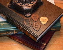 Custom Made Wooden Personalized Guitar Picks Custom Engraved With Text