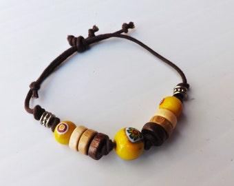 Funky fusion -  suede bracelet