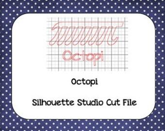 Octopi Pi Day Silhouette Cut File