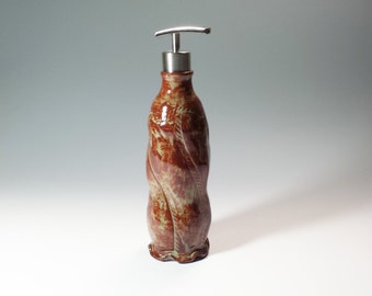 Lotion or Soap Bottle,Pottery Bottles, Soap dispensor,lotion dispensor,bathroom accessories,kitchen accessories,ready to ship,ceramic bottle