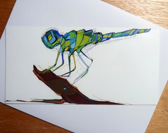Grounded - 4x8 Print of an Original Multimedia Work - Dragonfly