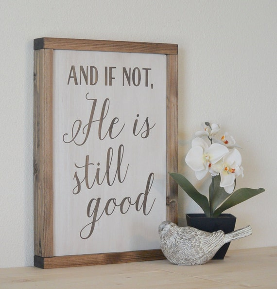 Christian Home Decorations: Wall Decor Wood Wall Art Wood Wall Decor And If Not He Is
