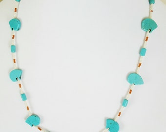 Southwestern Tribal Howlite Necklace