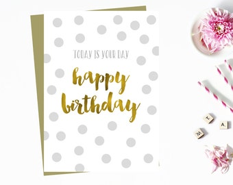 Gold & Silver Birthday Cards (Set of 10)