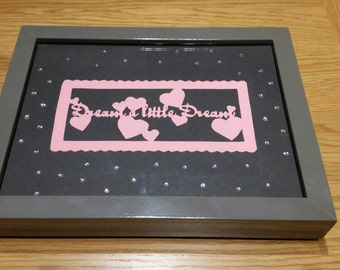"""Hand made picture """"dream a little dream"""""""