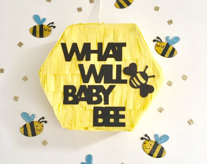 Gender Reveal Mini Pinata, Gender Announcement, What Will Baby Bee? You Are Going to Be Grandparents, We're Having a Baby, Balloon Pop Box