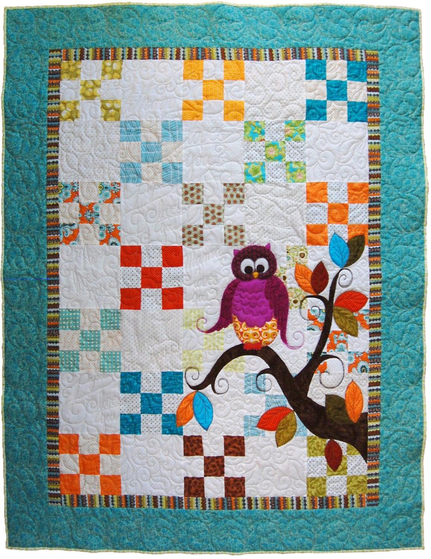 Baby Quilt Pattern Pdf Owl Quilt Pattern Pdf Baby Shower