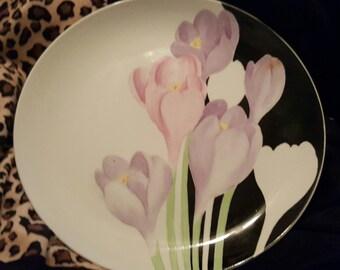 Mikasa Vogue Porcelain Platter / Chop Plate 12 Inch