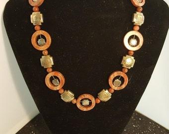 Seasme Jasper Necklace and Earring Set 119