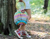Blooming Flower Boho Purse - Crochet + Knit Purse. FREE SHIPPING
