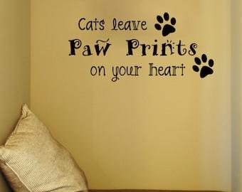 Cats Wall Decals Etsy - Custom vinyl wall decals cats