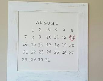 wedding gift anniversary gift bridal shower gift new baby gift special day framed calendar