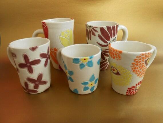 Flower Language Cups - Porcelain Mugs