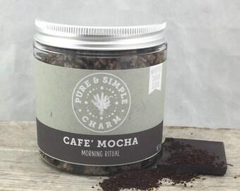 Cafe Mocha Whipped Sugar Scrub, Coffee Sugar Scrub, Whipped Body Scrub, Whipped Sugar Scrub, Whipped Cocoa Butter, Handmade Sugar Scrub