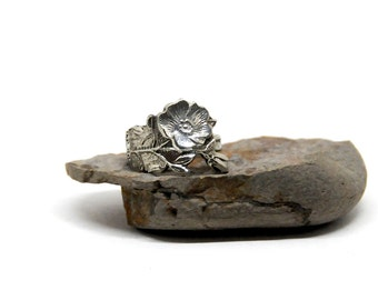 wild rose ring, rose ring, spoon ring, alberta ring