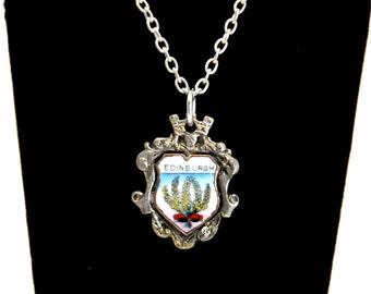 Scotland necklace, thistle necklace, edinburgh necklace,  scottish necklace,
