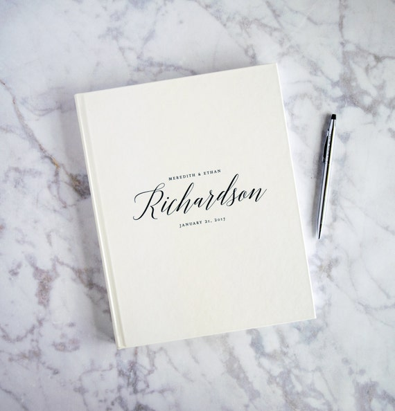 Formal Wedding Guest Book Elegant Simple Cream Guestbooks