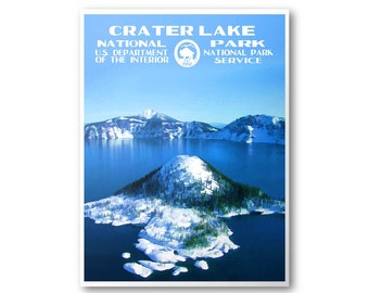 Crater Lake National Park Travel Poster