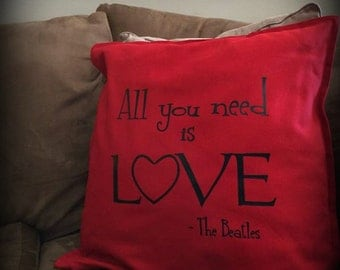Beatles All You Need Is Love Pillow