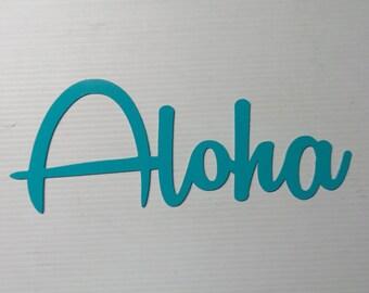 Aloha Hawaiian Greeting Metal Art Sign  A13