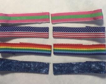 Ribbon covered alligator clips