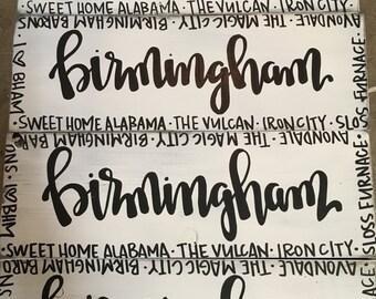 Birmingham Alabama Wood Decor