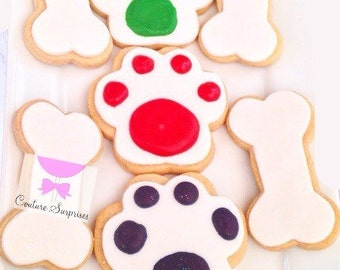 12 Dog Bone Cookies / Cookie / dog / dog bone / dog paw / dog biscuit / dog patrol