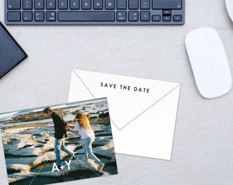 electronic save the date template - photo save the date postcard template wedding cards download