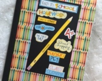 Back to School Altered Composition Notebook