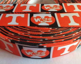 "Tennessee Volunteers 7/8"" Grosgrain Ribbon - 5 Yards, NCAA"