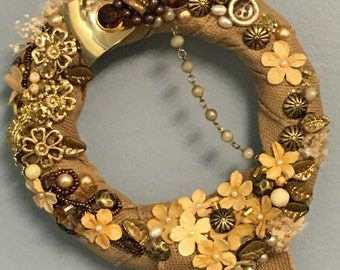 LITTLE GOLD...a handmade wreath you will love!